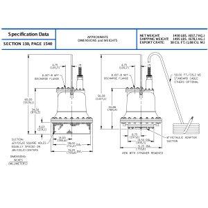 "Sub Pump 8""x8"" S8B1-E100"