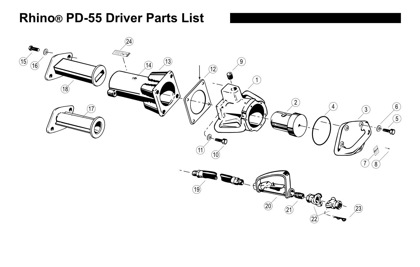 Parts for PD-55 MEDIUM DUTY POST DRIVER