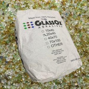 GlassOx AbrasivesTM 20x40, 50lbs Bag