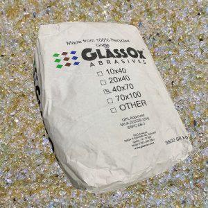 GlassOx AbrasivesTM 40x70, 50lbs Bag