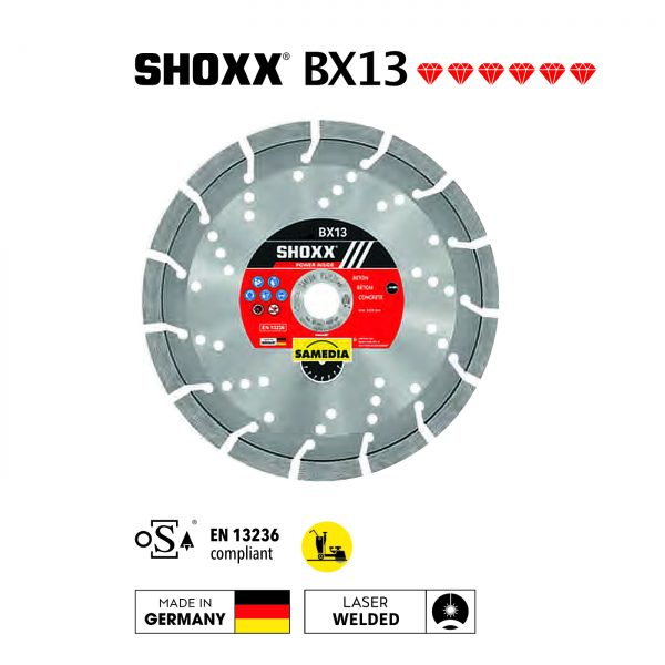 "Samedia Shoxx BX13 18"" Concrete Saw Blade"